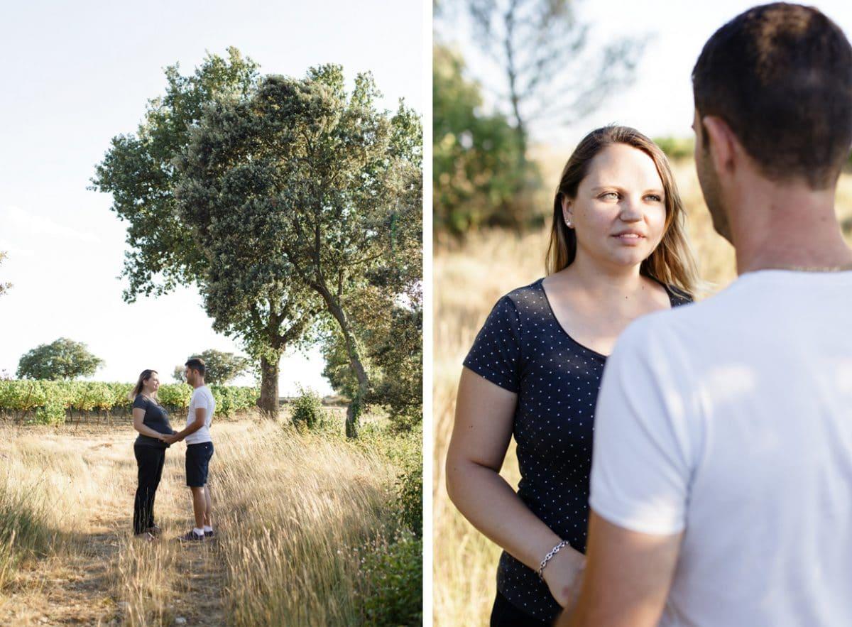 Une promenade de fin de journée pour ces deux futurs parents