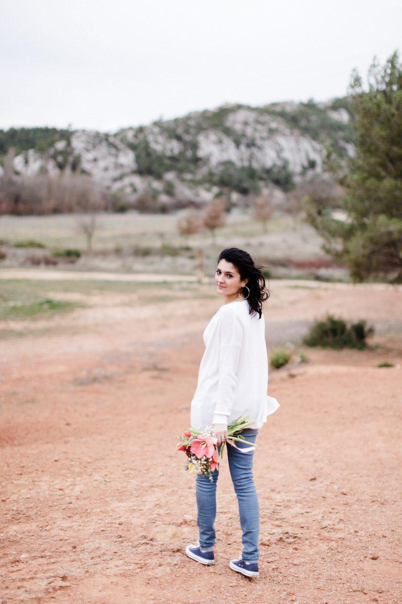 Love session au pieds de la Sainte-Victoire près d'Aix en Provence