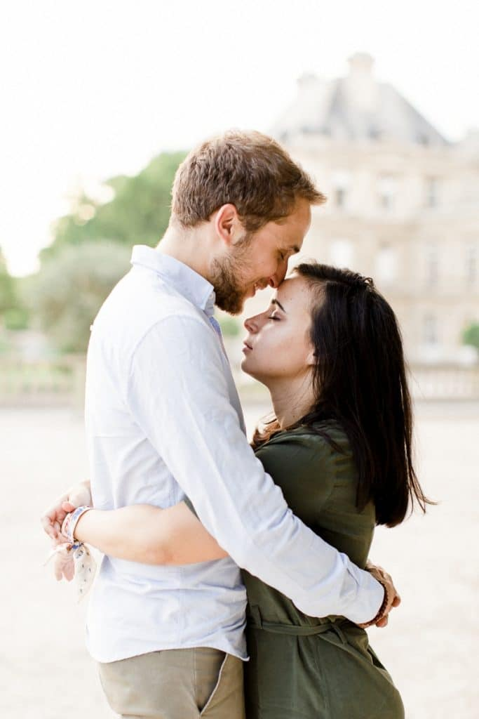 A romantic engagement session in the